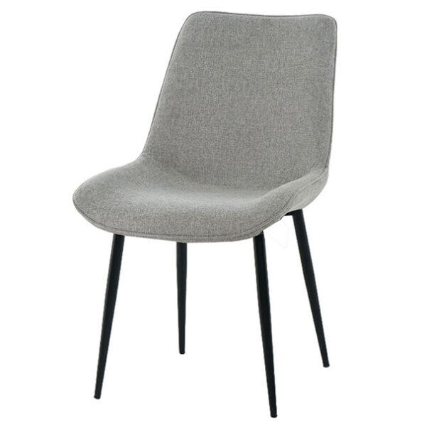כסא דלתא אפור