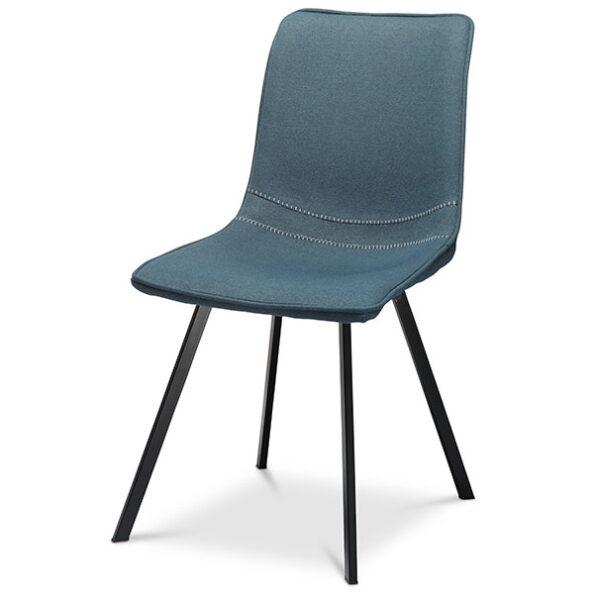 כסא מרופד לוקאס כחול