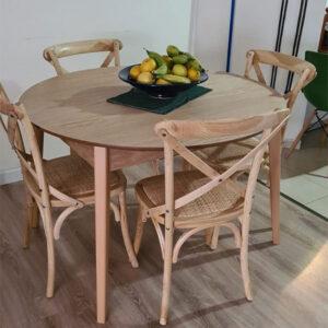 כסא ראטן עץ טבעי