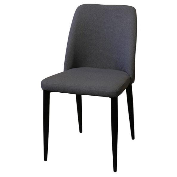 כסא אפור עם רגליים שחורות