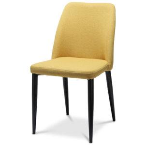 כסא לפינת אוכל חרדל צהוב