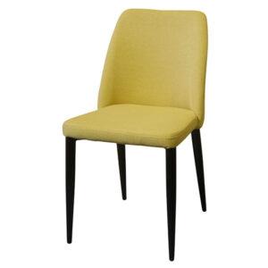 כסא מרופד חרדל