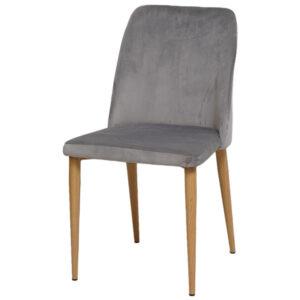 כסא קטיפה אפור