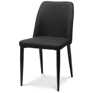 כסא קלרה שחור רגליים שחורות