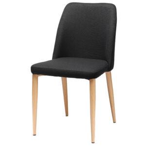 כסא קלרה שחור עם רגלי דמוי עץ