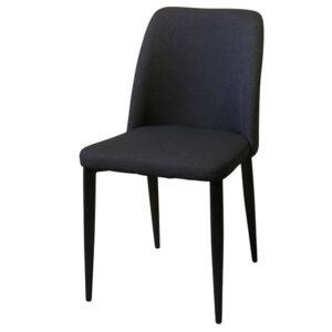 כסא שחור מרופד