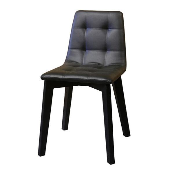 כסא מרופד שחור
