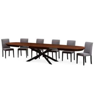 שולחן אובלי נפתח