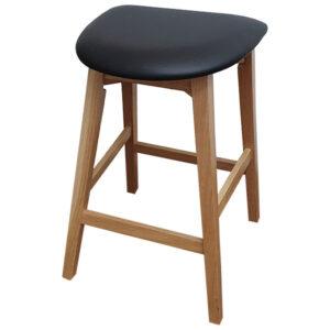 כסא בר שרפרף מעץ