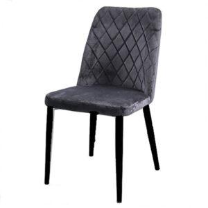 כסא קטיפה שחור