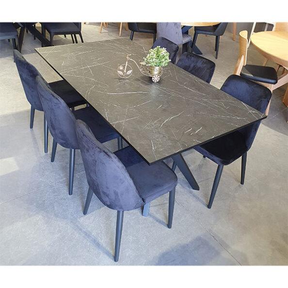 שולחן שיש שחור