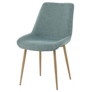 כסא דלתא ירוק רגל עץ