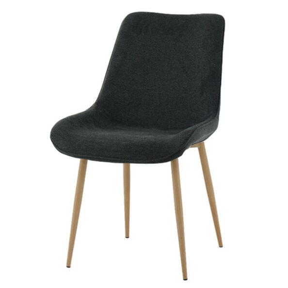 כסא דלתא שחור רגל עץ