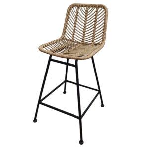 כסא בר ראטן טבעי