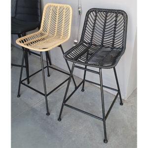 כסא בר ראטן שחור
