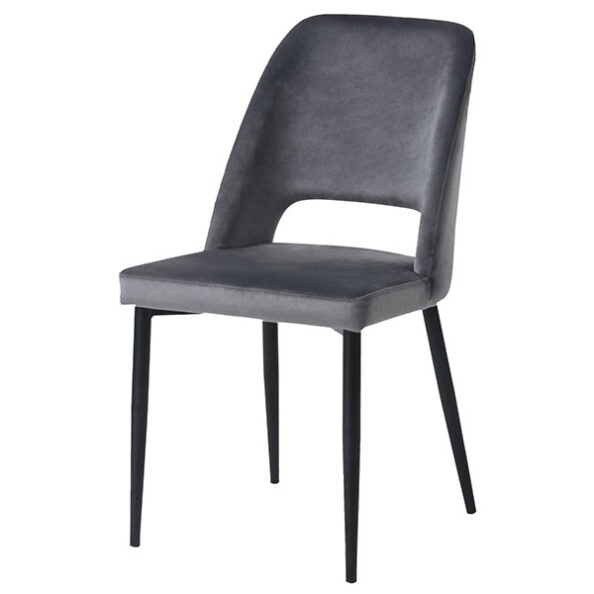 כסא פז אפור קטיפה
