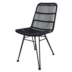 כסא ראטן שחור