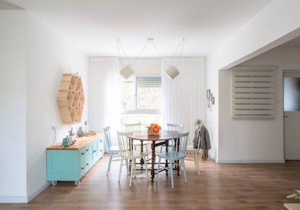 עיצוב פינת אוכל לסלון ולמטבח