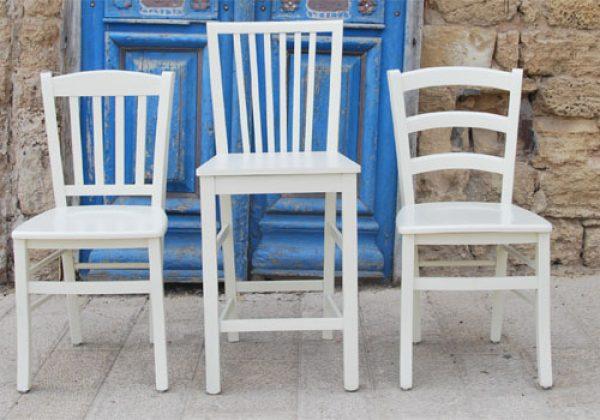 כיסאות עץ מעוצבים למטבח מוסדי