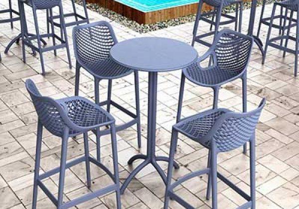 כיסאות בר פלסטיק לגינה ולמרפסת