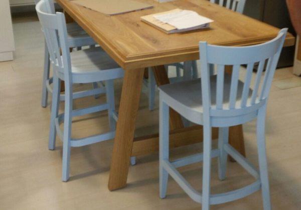 כסאות בר מעץ עבור פינות אוכל גבוהות